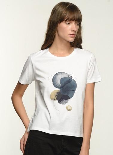 NGSTYLE NGKSS21TS0028 Baskılı Tişört Beyaz